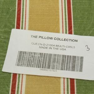 The Pillow Collection Hollis Stripes Bedding Sham Green Queen//20 x 30